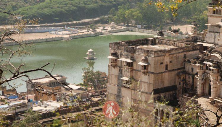 Vistas del Palacio de Bundi y el lago