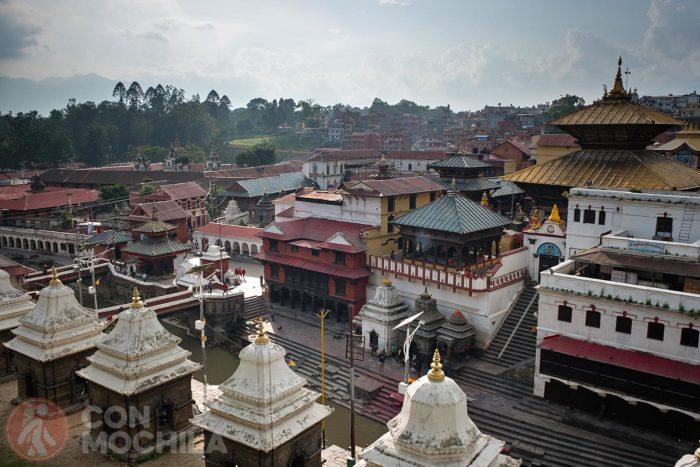 Vista de los ghats desde arriba