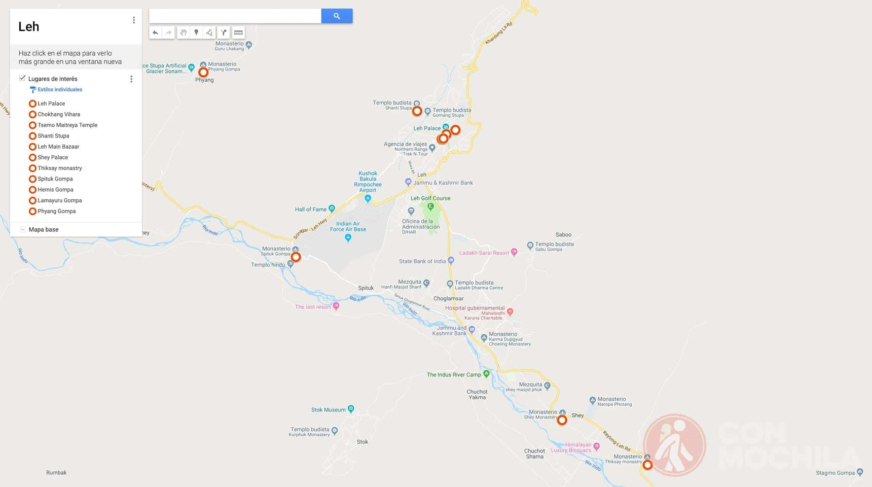 Mapa de Leh