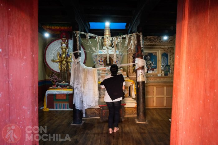 El interior del templo
