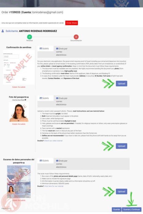 Documentación para el visado Kenia