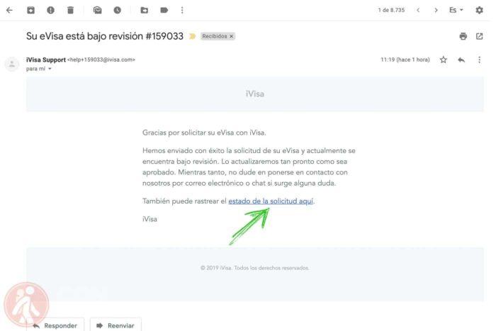 Mail de solicitud enviada
