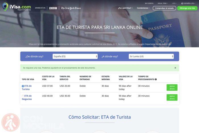 Visado de Sri Lanka online sin complicaciones