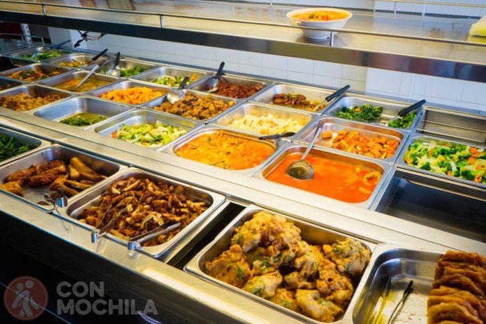 Muchos platos para elegir en Georgetown