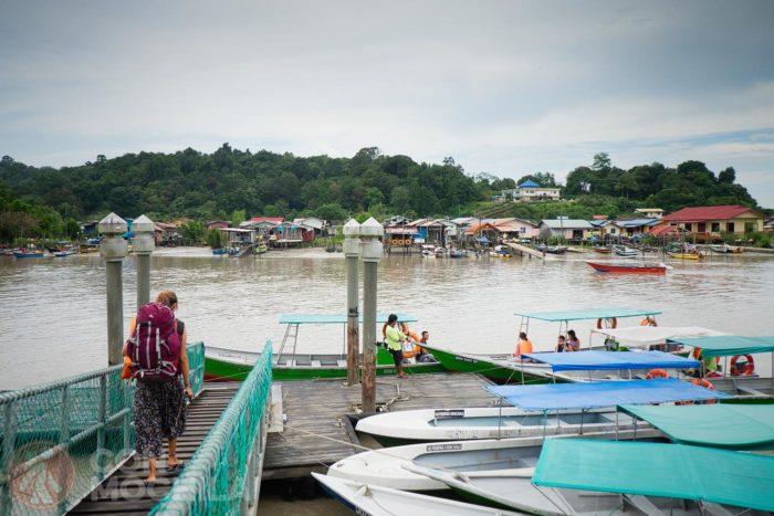 De camino a una barca rumbo al P.N Bako (Malasia)