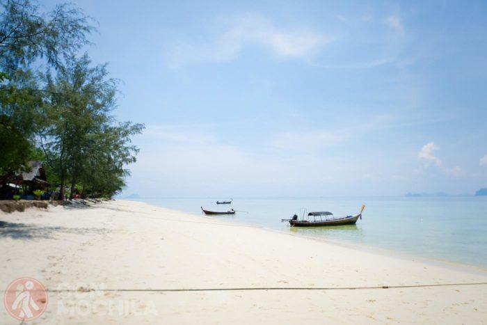 Tipo de playa en las que uno desembarca haciendo day trips de snorkel
