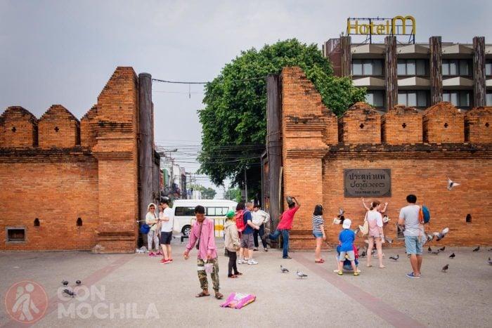 Tha Phae Gate, la más famosa de casco antiguo de Chiang Mai