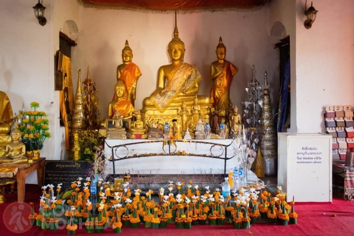 Interior del templo Wat Chom Si