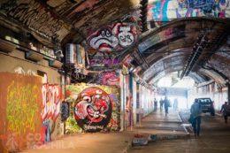 El tunel del graffiti en Southbank