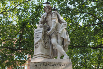 Estatua de Shakespeare en Leicester Square