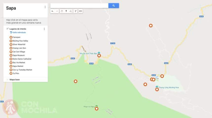 Mapa Sapa