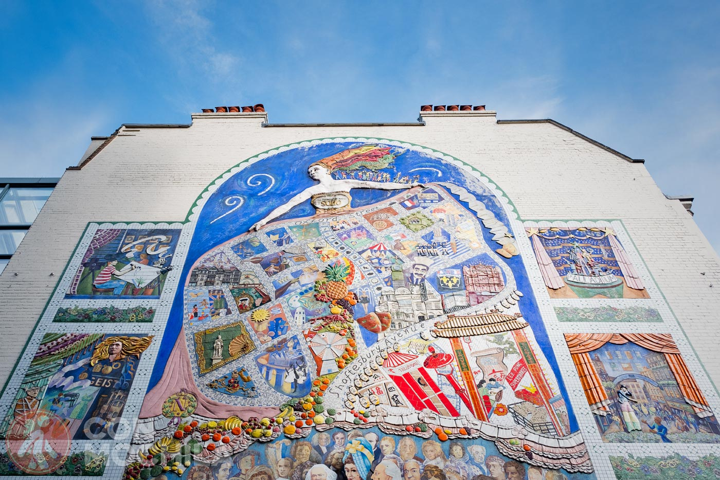 Mural en el Soho de Londres