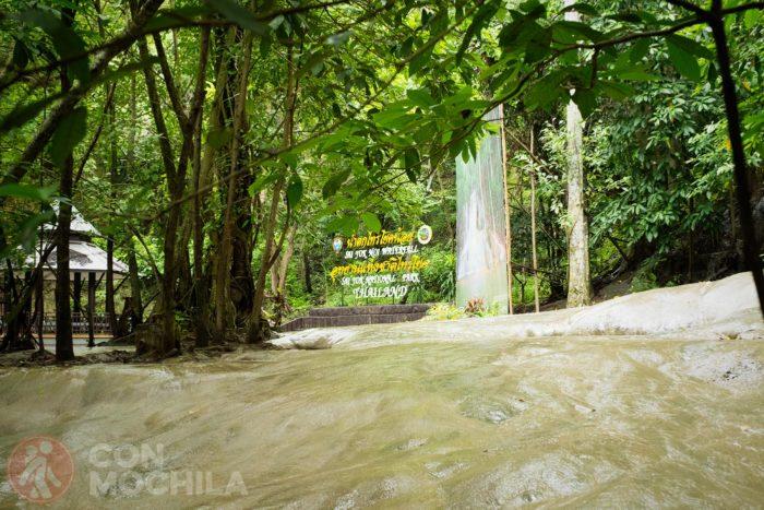 Otro detalle de la cascada