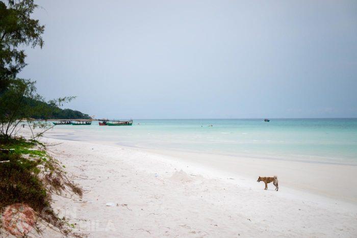 Una playa solitaria en Koh Rong, ¿seguirá así?