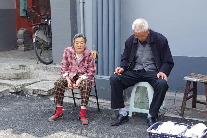 personas mayores Pekín