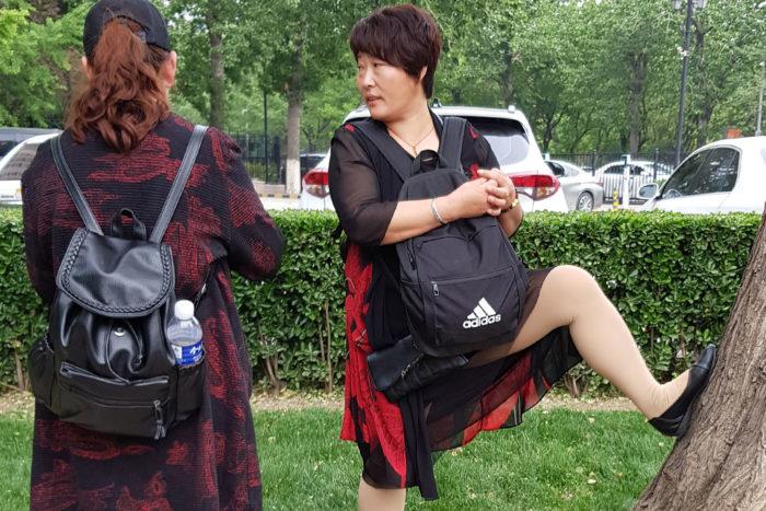 Mujer china en Pekín