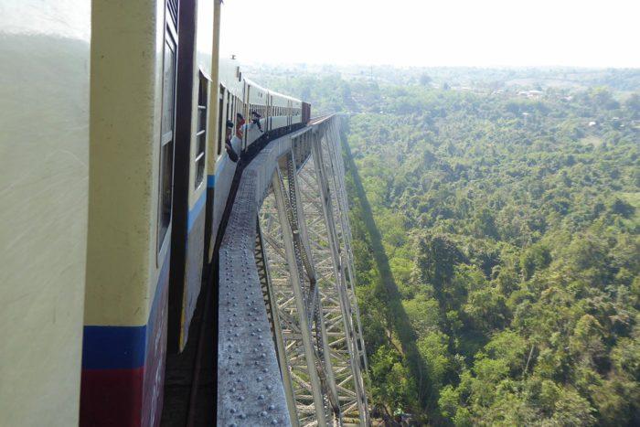 En el tren de Madalay a Hsipaw