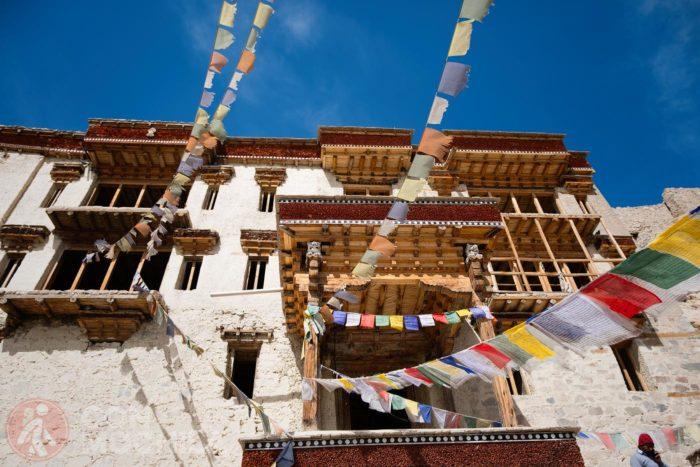 Fachada del palacio Shey y sus balcones