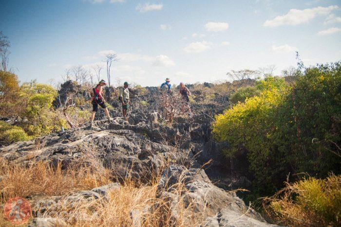 Llegada a las rocas del Grand Tsingy
