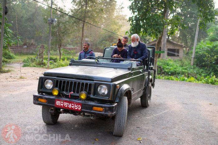 Típico jeep de Bardia