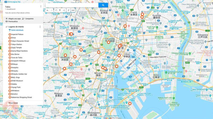 Mapa de Tokio