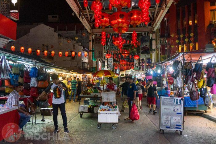 De compras por la chinatown de Kuala Lumpur