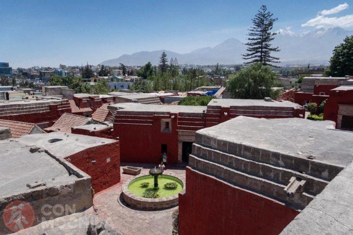 Vistas de Arequipa desde el monasterio