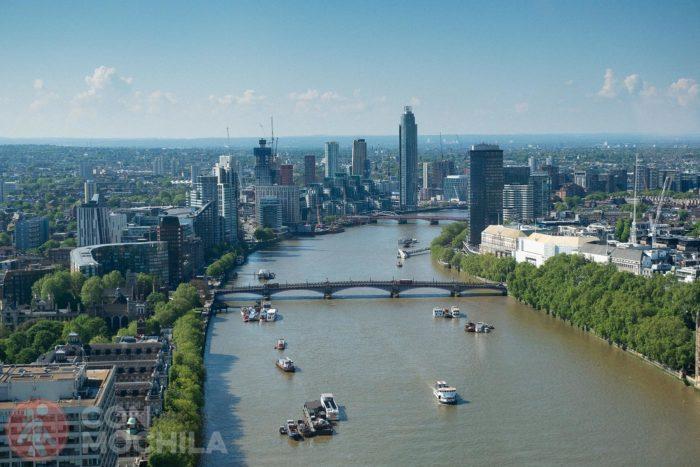 Vistas desde la noria de Londres