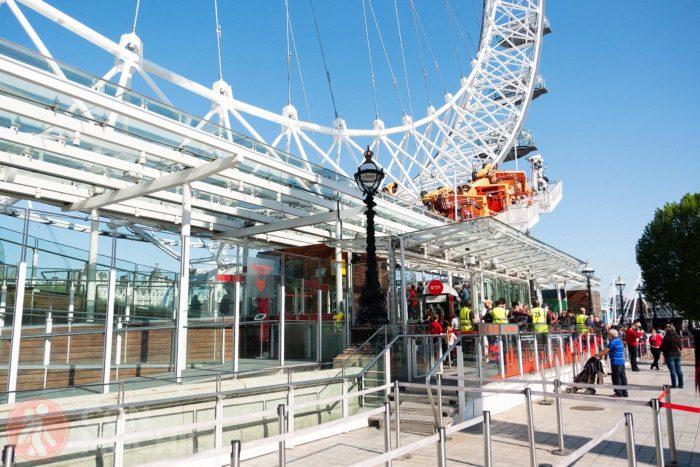 La entrada al London Eye