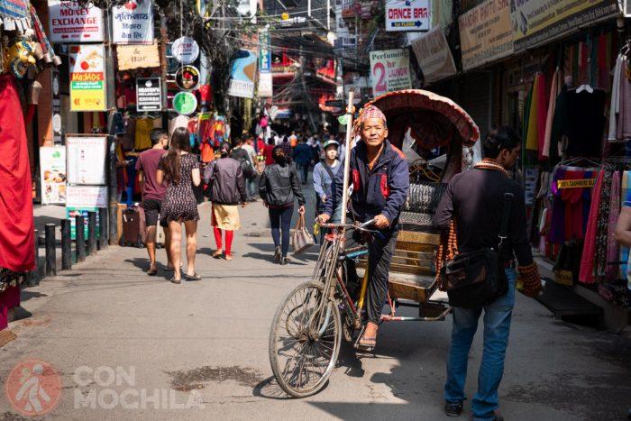 Los rickshaws, los nuevos dueños de un Thamel sin coches