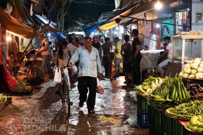 La callecita del mercado de alimentos