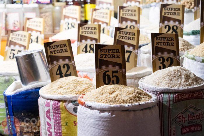 Sacos de arroz en Paharganj, un resquicio de lo que fue en su día