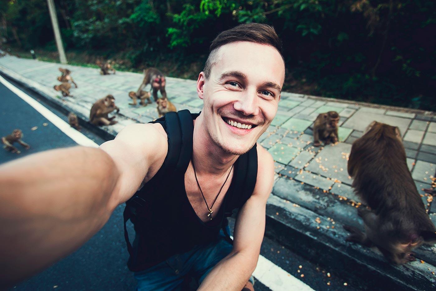 ᐈ ¿Por qué los selfies con animales salvajes son un problema?