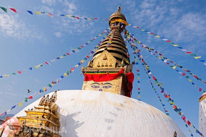 La cúpula de la estupa