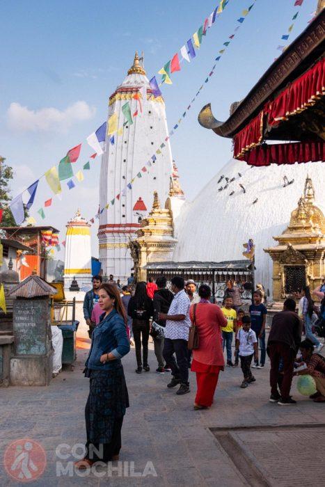 Detalle del templo hindú