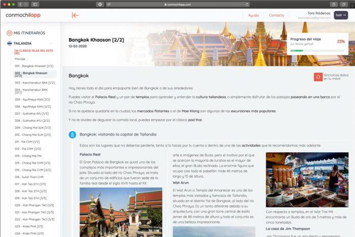 Itinerarios por Tailandia