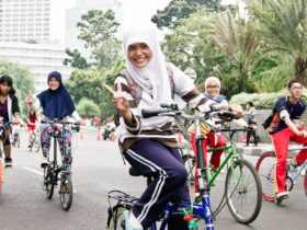 Mujeres Yakarta día sin tráfico