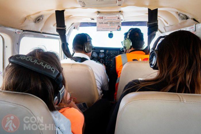 Interior de la avioneta
