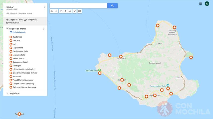 mapa siquijor