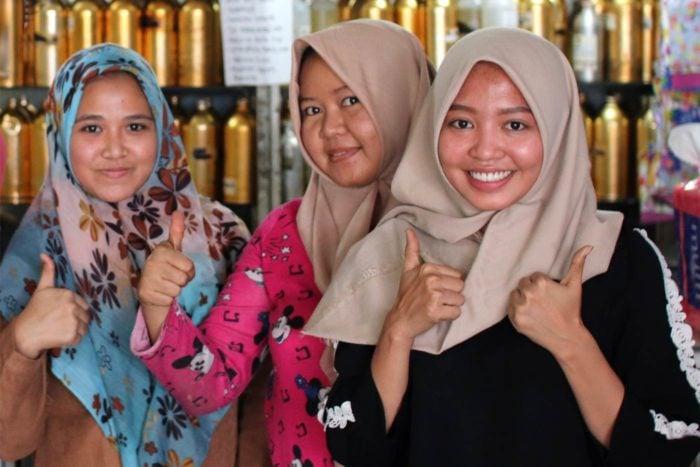 Mujeres musulmanas Indonesia
