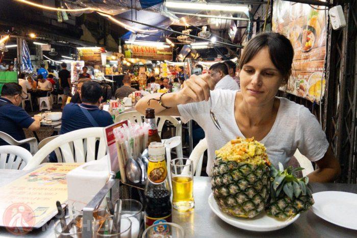 Pineapple fried rice vegetariano