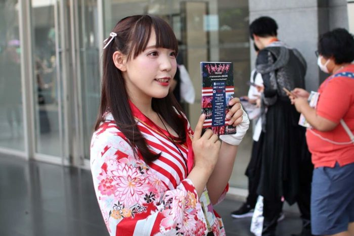 mujer Bangkok disfraz japones