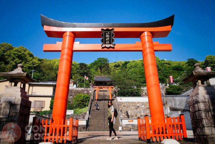 Uno de los muchos toriis