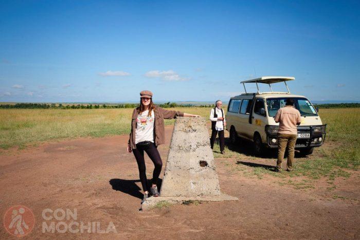 Con Nando y Charles, en el Masai Mara