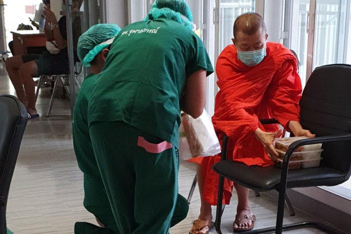 monje tailandia hospital
