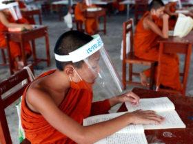 monjes Tailandia en Covid19