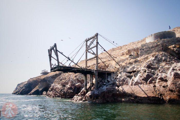 Estructura que nos recuerda el pasado exportados de guano de islas Ballestas