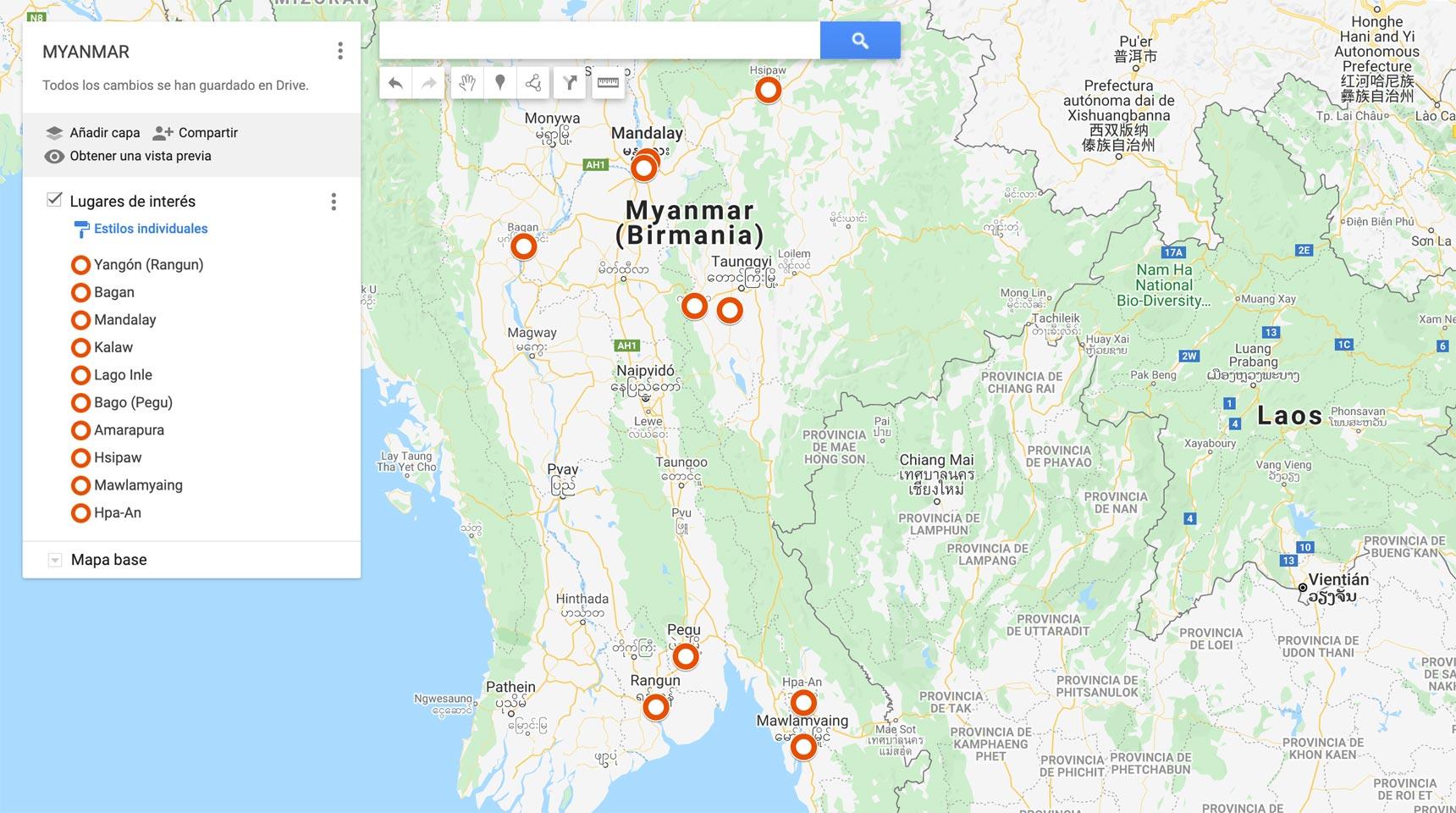 MAPA MYANMAR